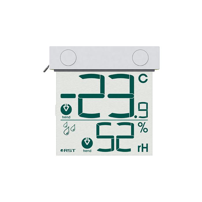 Цифровой оконный  термометр гигрометр 01278