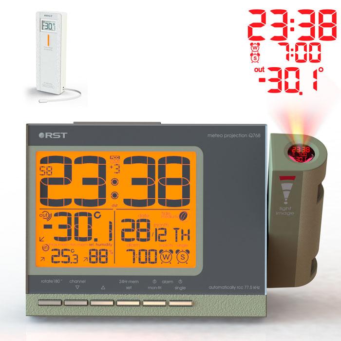 Проекционные часы c радиодатчиком Q768