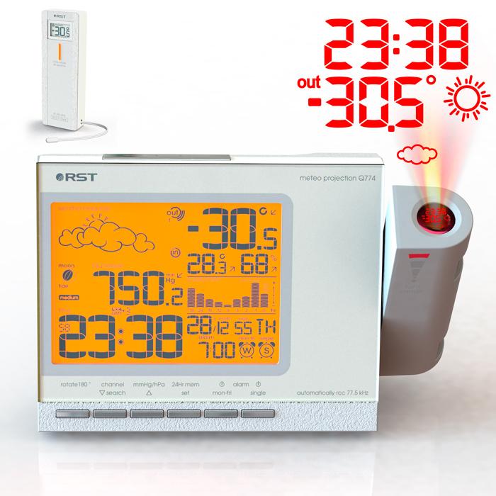 Проекционные часы метеостанция Q774